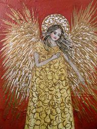 Folk Art Golden Ange