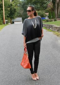Ombre poncho styled