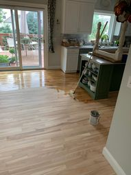 the process of living in a house while refinishing floors   Miss Mustard Seed