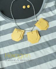 Hexagon-necklace-and