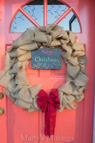 Burlap wreath with c