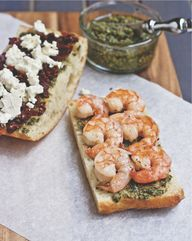 Greek Shrimp Panini