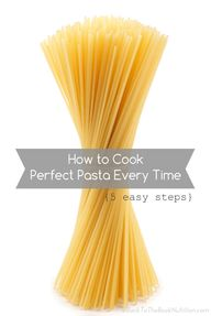 How to Cook Perfect