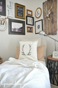 Lovely antler pillow
