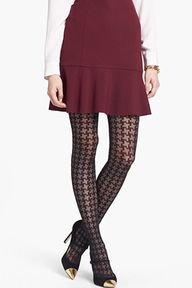 Houndstooth tights....