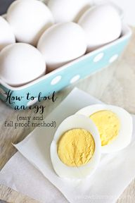 How to boil an egg -