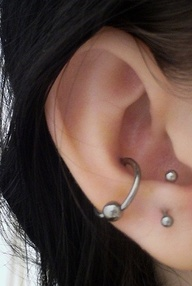 conch piercing and a