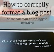 How to format a blog