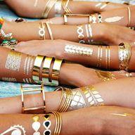 Gold tattoos