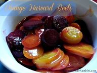 Orange Harvard Beets