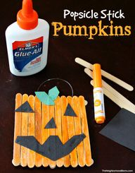 Popsicle Stick Pumpk