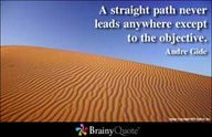 Straight paths...
