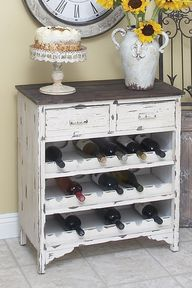 wine cabinet from an