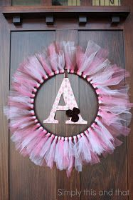 Monogrammed Tulle Wr