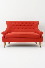 Red couch via Anthro