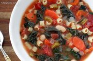 Hearty minestrone so