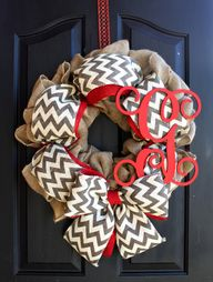 Burlap Chevron Wreat...