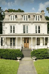 #oldhouses #secondempire #mansard CLICK PIC FOR MORE PHOTOS OF THIS 1850 Second Empire For Sale In Kingston New York