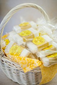 "Shower Favors - ""From Allies Shower to Yours"" - little bars of soap...get it? :)"