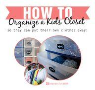 Organizing kids' clo