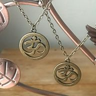 Om Necklace in Antiq