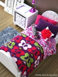 Doll bed made from a