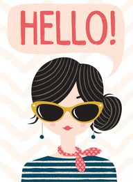hello girl card