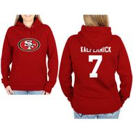 Womens San Francisco 49ers '47 Brand Black Fiona Cuff With Pom Knit Beanie