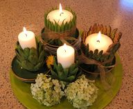 vegetable candle cen