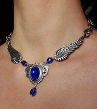 Blue wings necklace...