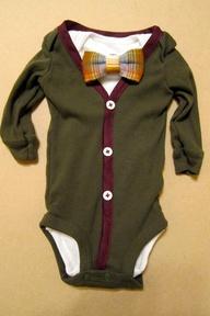 Baby Boy Outfit  Olive/Burgundy Cardigan  Bow Tie by KraftsbyKizzy, $35.00