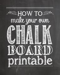 how to make chalkboa