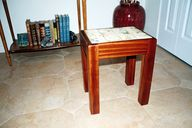Tile top table for a