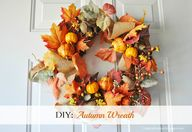DIY Autumn Wreath.