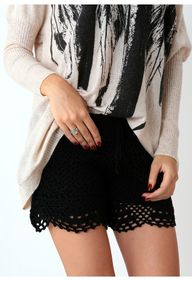 black crochet shorts. Get that top away from me.