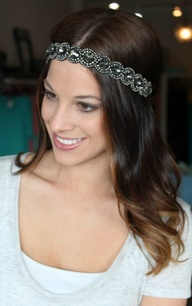 Pink Pewter headband
