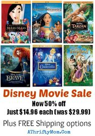 DISNEY DVD'S 50% OFF