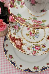 Rosey Shabby Chic 3 Tier Cake Stand by cake-stand-heaven, via Flickr