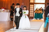 mini bride and groom