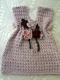 Little Treasures: Violet Crochet Baby Dress