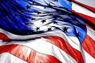 American flag etique...