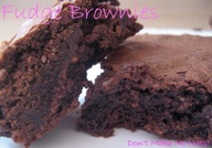 Fudgy homemade brown