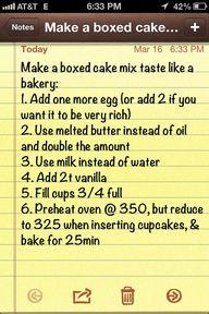 make a boxed cake ta