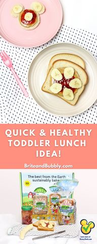 Check out this Quick and Nutritious Toddler Lunch Idea made with Oroweat Organic for Kids White Bread made with Whole Wheat! #AD #MickeyTrueOriginal