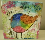 Mixed Media Bird She