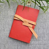 Sketch book / travel notebook in red Saffiano leather
