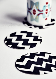 chevron coasters mad