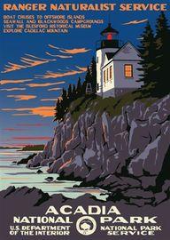 Acadia National Park in Maine.  Acadia National Park, formed on Feb 26, 1919.  Acadia preserves the tallest mountain on the Atlantic coast.