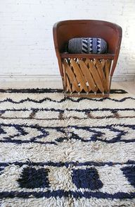 Vintage Moroccan Rug and Occasional Chair
