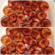 My fried plantains w
